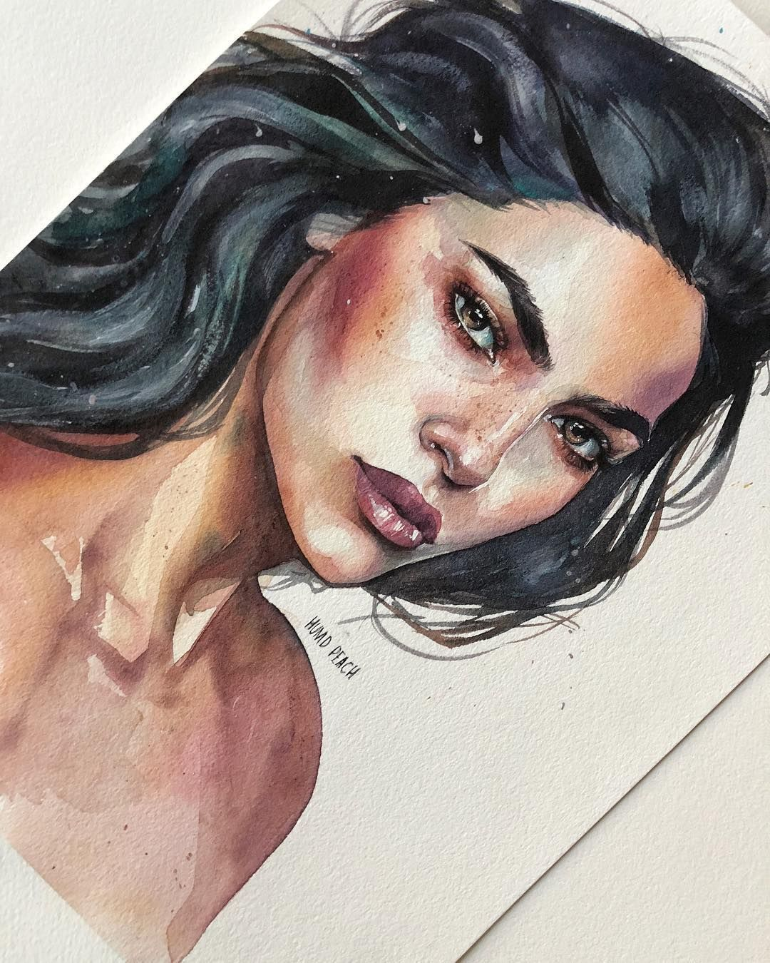 Watercolor Painting By Humid Peach Portrait Art Art Watercolor