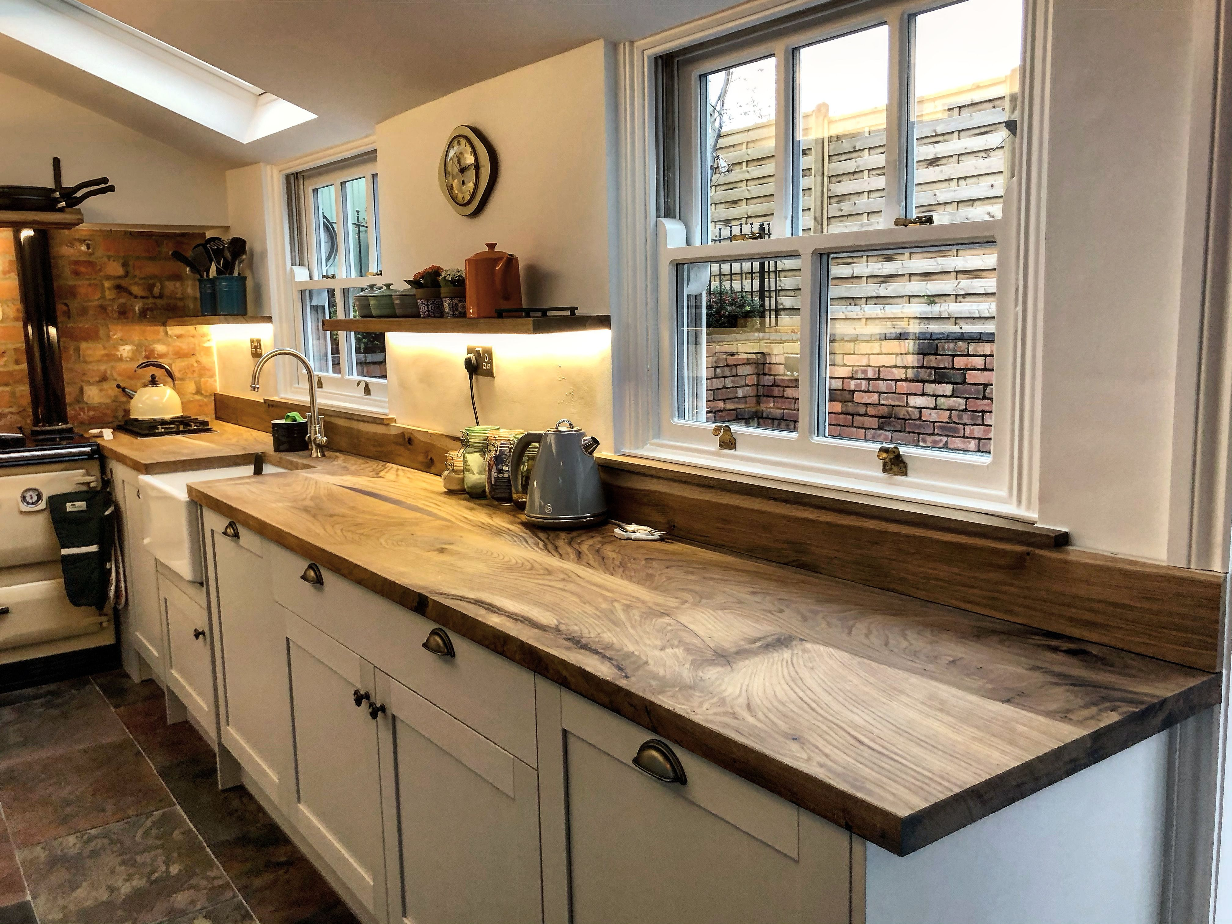Solid Wood Worktops by Earthy Timber Wood worktop, Small