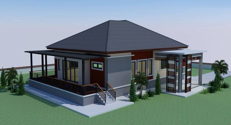 Simple Yet Gorgeous Elevated House Concept Modern Bungalow House Bungalow House Design Small House Design Plans