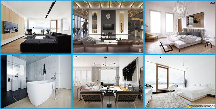 Ufficio Moderno Di Lusso : Interni di lusso progetti di arredo moderno in bianco e nero