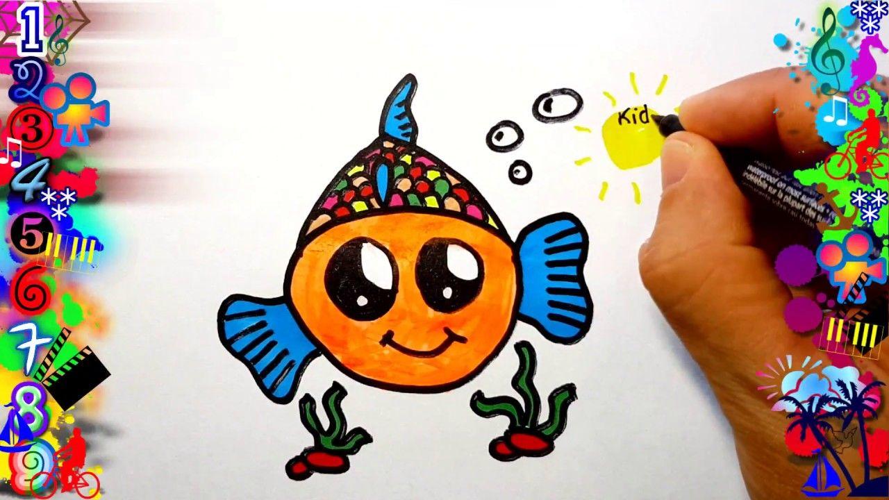 Como Dibujar Un Pez Kawaii Facil Para Niños Dibujos Como Dibujar Un Pez Dibujos Faciles Para Niños Dibujos Para Niños