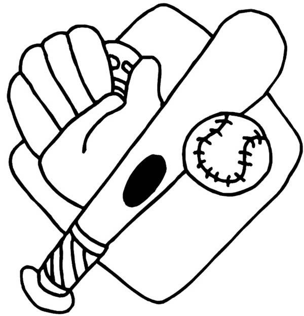 Baseball Glove Bat Ball And Mount Coloring Page Download Print Online Coloring Pages For In 2021 Baseball Coloring Pages Bat Coloring Pages Sports Coloring Pages