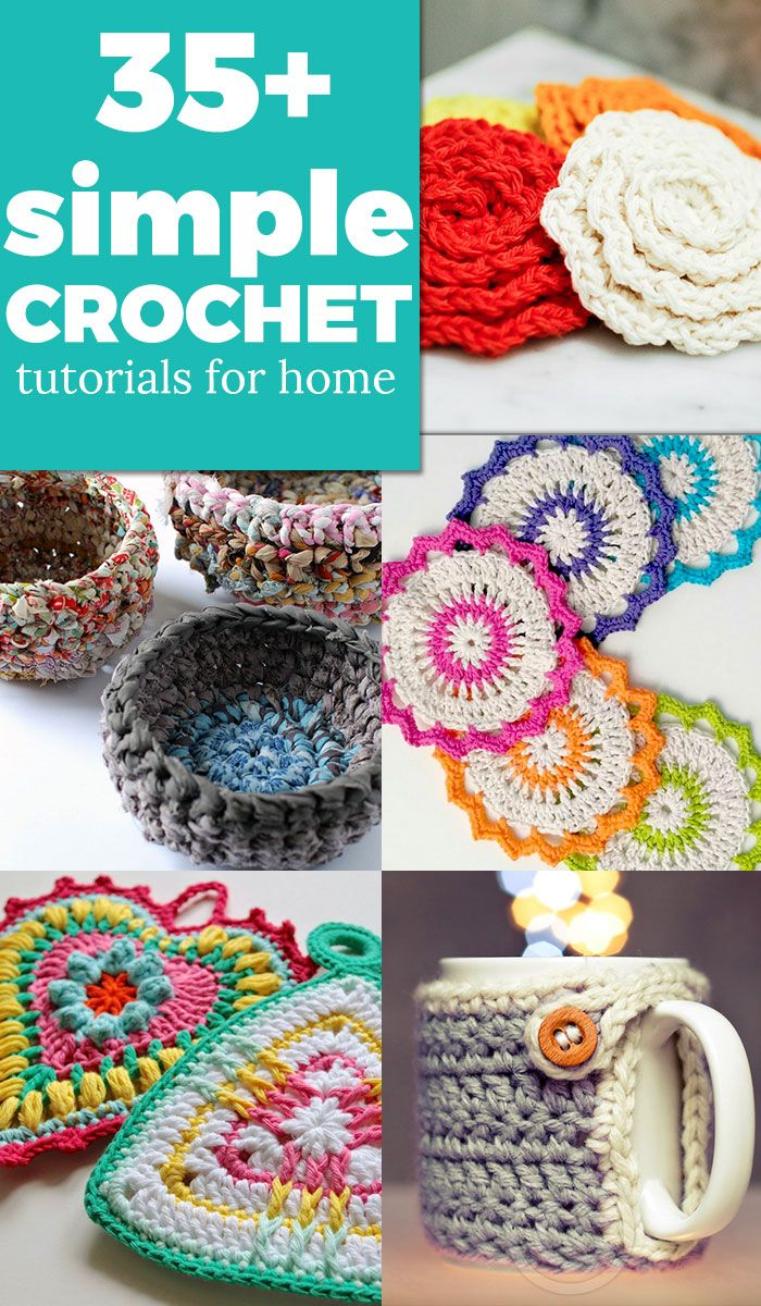 Tutoriales crochet sencillos para el hogar | tutoriales | Pinterest ...