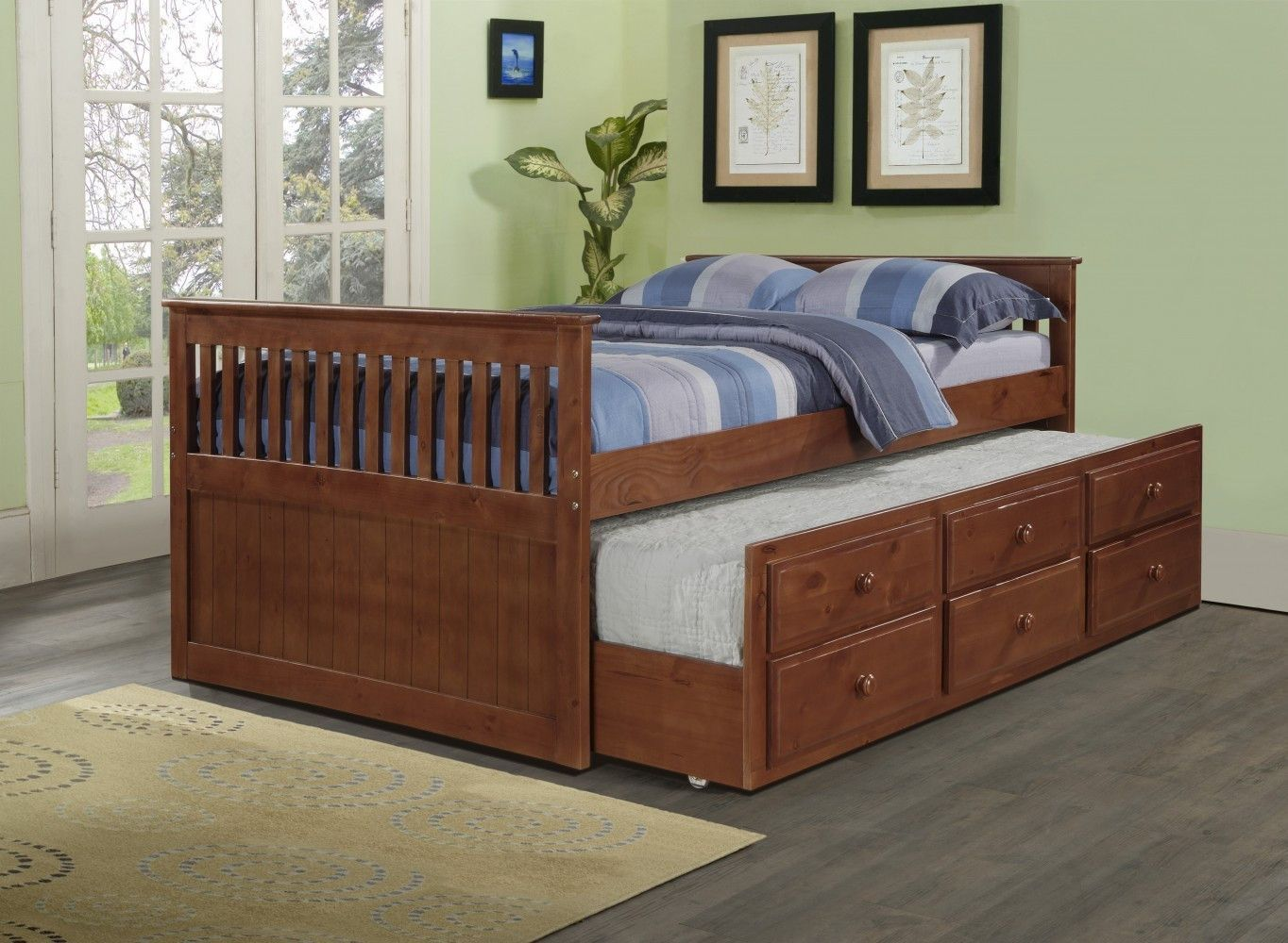 connor full captains bed with storage and trundle underbed storage