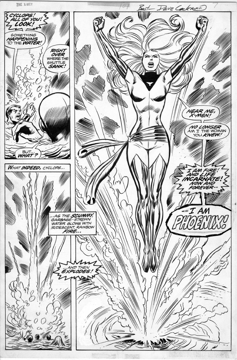 X Men N 101 Art By Dave Cockrum Awesome Intro Of Phœnix Classic Drawing Superheroes Marvel Coloring Marvel Drawings