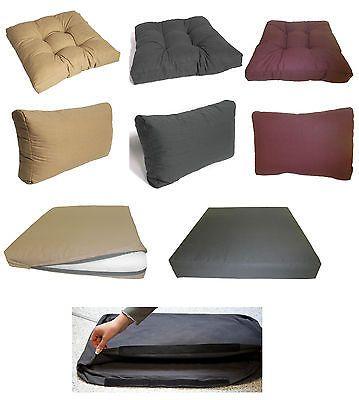 Gartenmöbel Auflagen für Rattan Lounge Gruppen Sitzpolster Polster - gartenmobel lounge rund