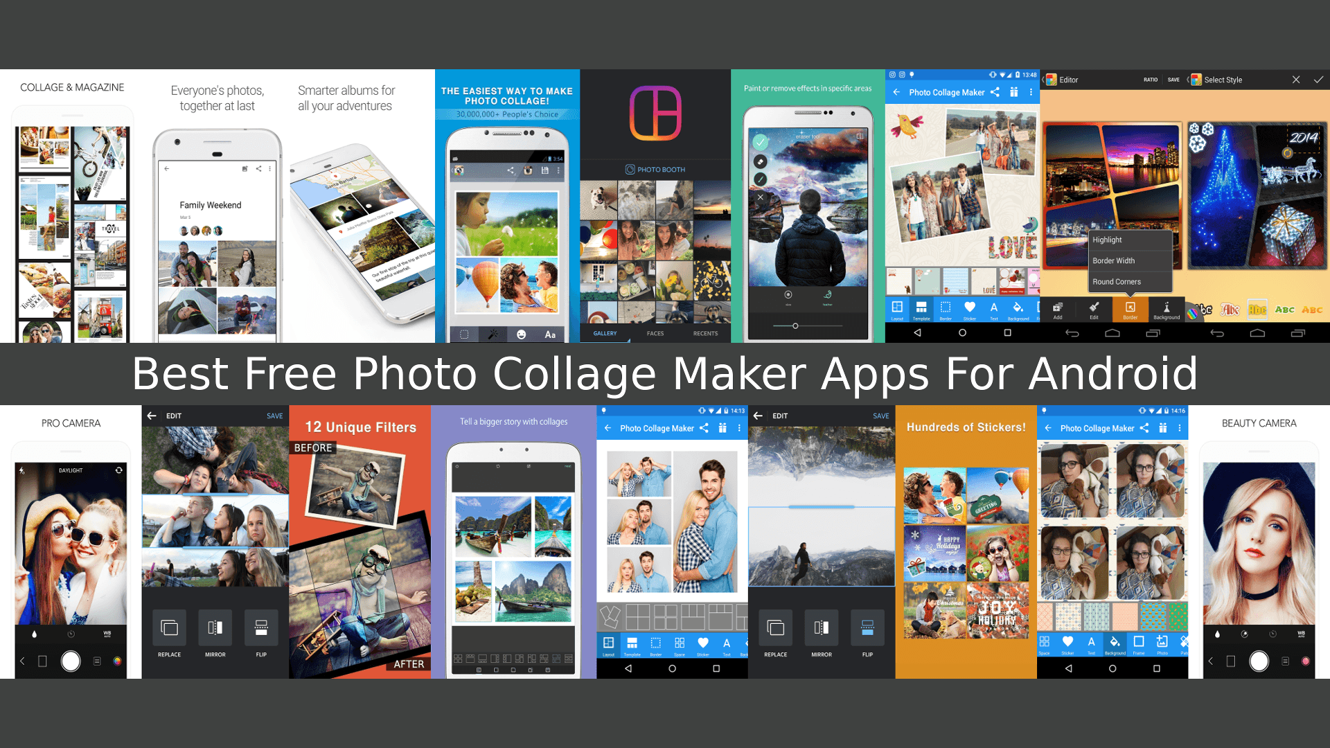 here is a list of best android photo collage maker apps that will