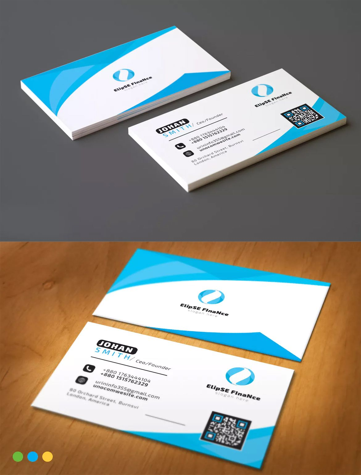Corporate Business Card Template Ai Eps Typo Logo Print