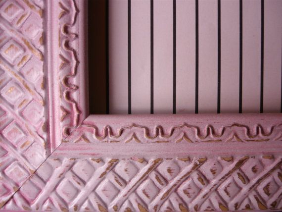 Shabby Chic Pink And White Textured Metal Frame by MountainMarket, $18.95 PERFECT VALENTINE, BABY, HOUSEWARMING GIFT!!!