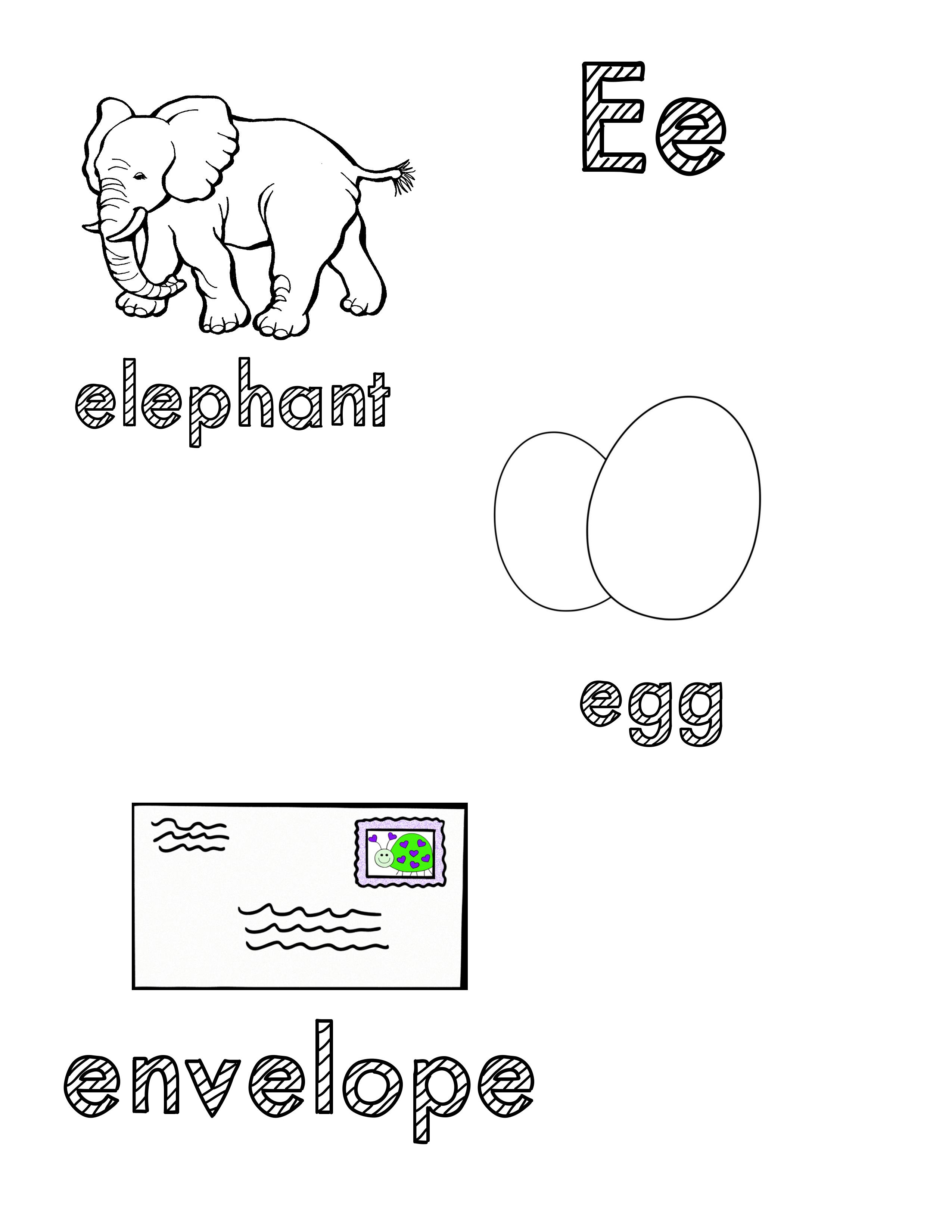 Phonetic Ee Coloring Sheet