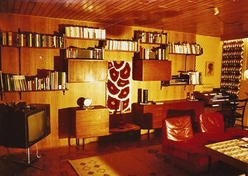 Unser erstes wohnzimmer wandelemente im 1960 modernen for Wohnzimmer 1960