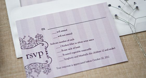 The jury is still out on online wedding RSVP etiquette Here at - best of wedding invitation samples text