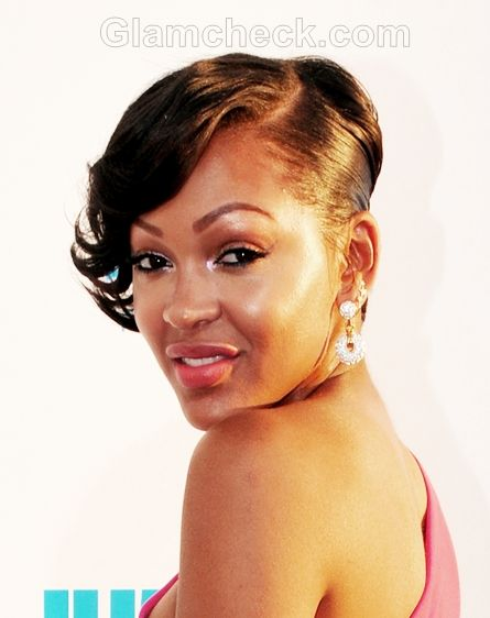 Updo Hairstyle Celebrity Meagan Good Celebrity Short Hair