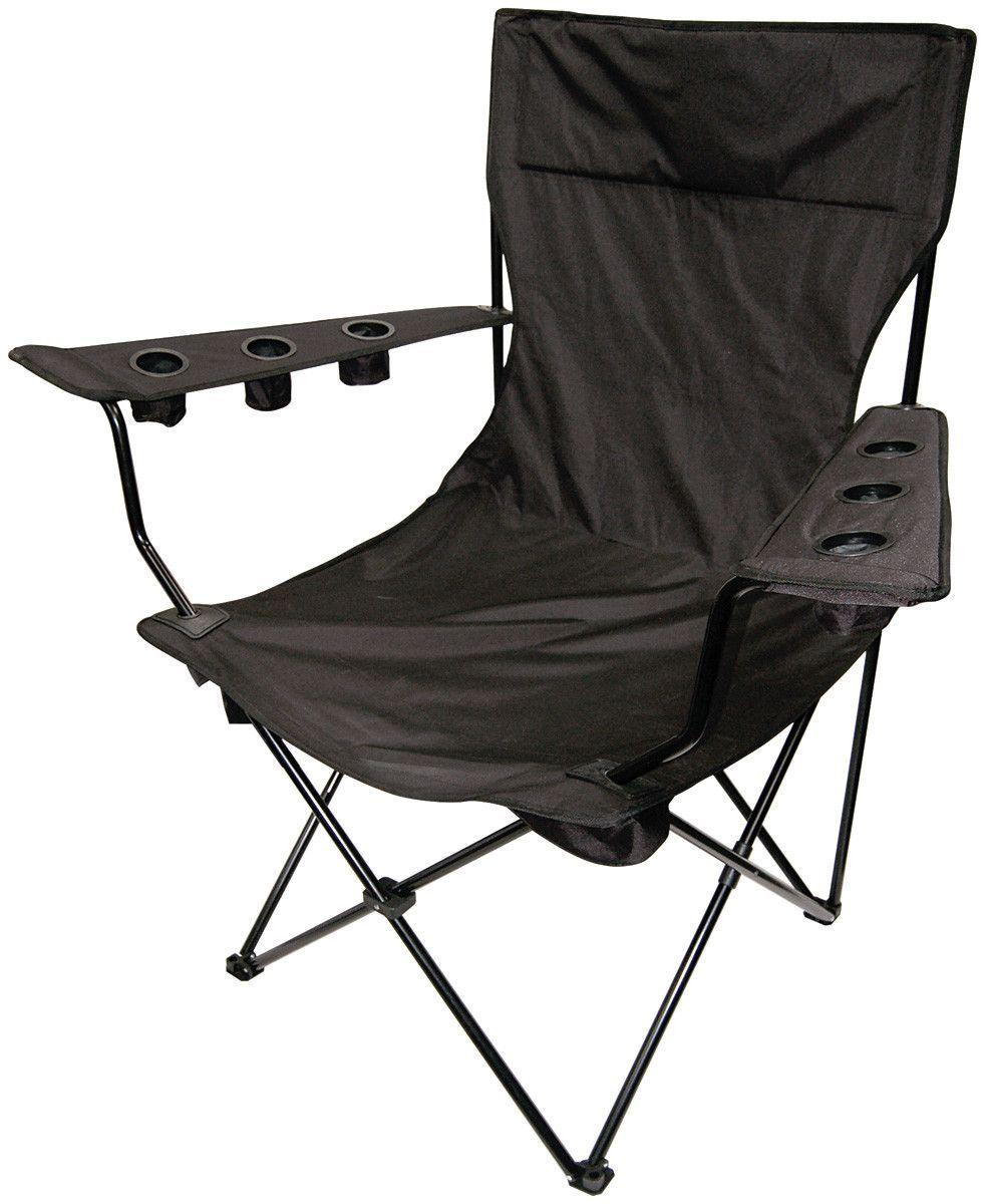Outdoor Giant Kingpin Folding Chair In Black Folding Chair