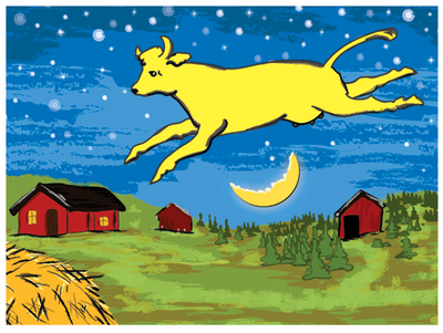 Goodnight moon: the cow jumping over the moon 30x20 signed print ...