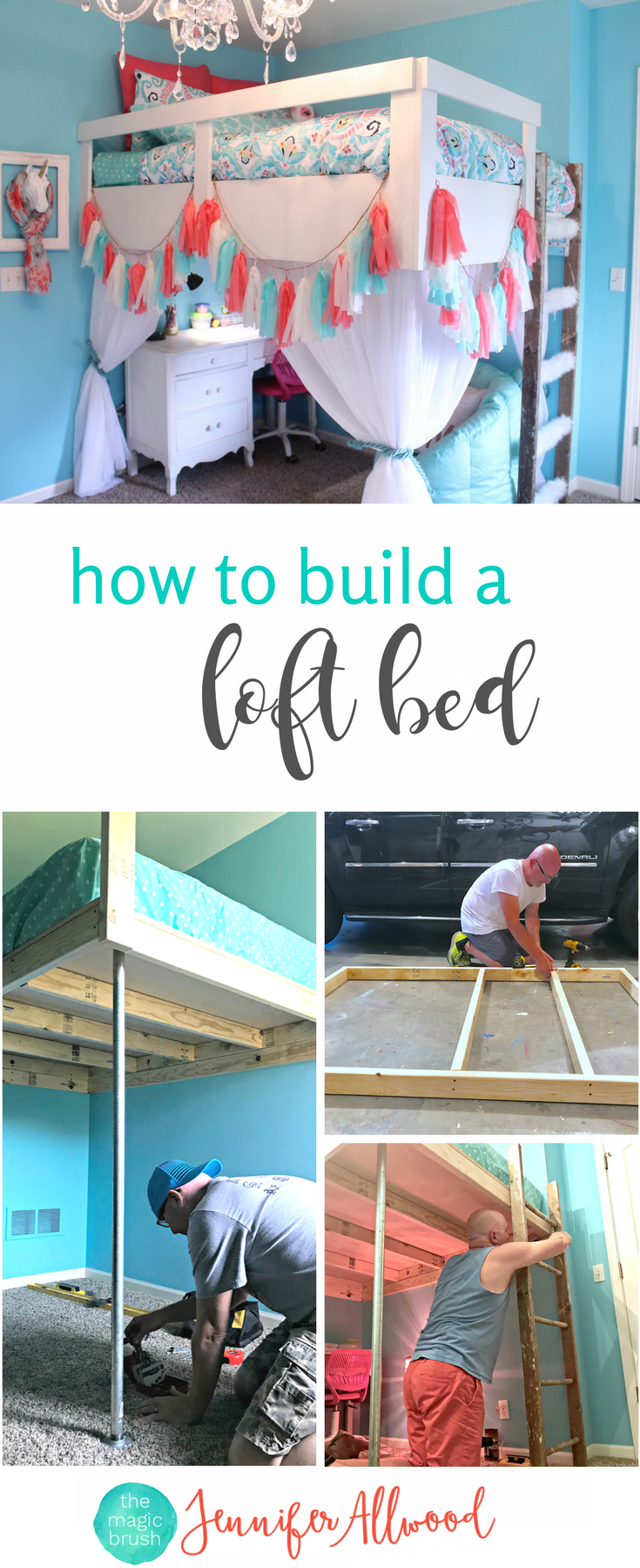 how to build bedroom furniture. How To Build A Loft Bed For Girls Bedroom By Jennifer Allwood -Tween Girl Furniture