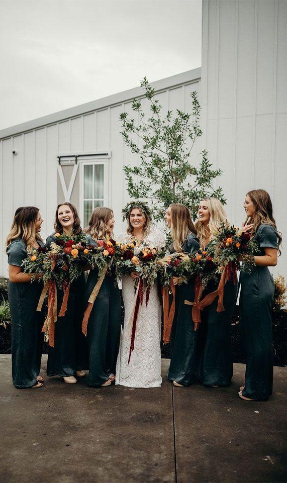 Autumn wedding colors 2019 { Blackberry + Dark Blue + Maroon + Spicy Orange + Wine }