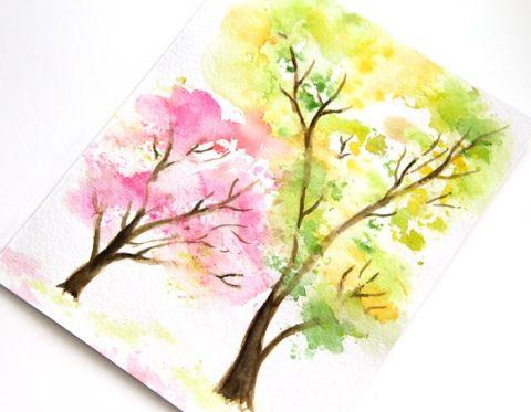spring-tree-watercolor-painting-apieceofrainbow (6)