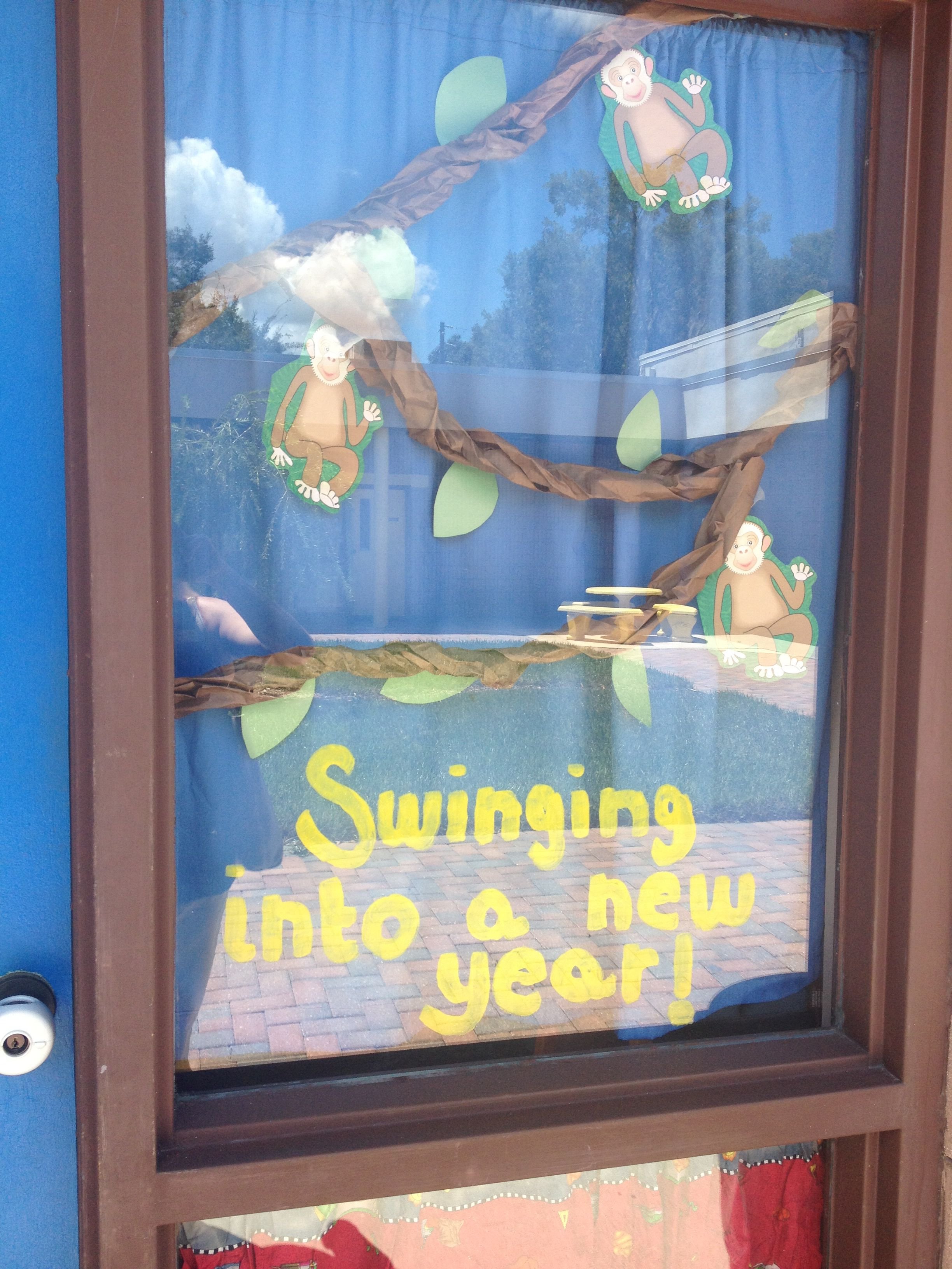 Swinging into a new year. | Newyear, Bulletin boards, Decor