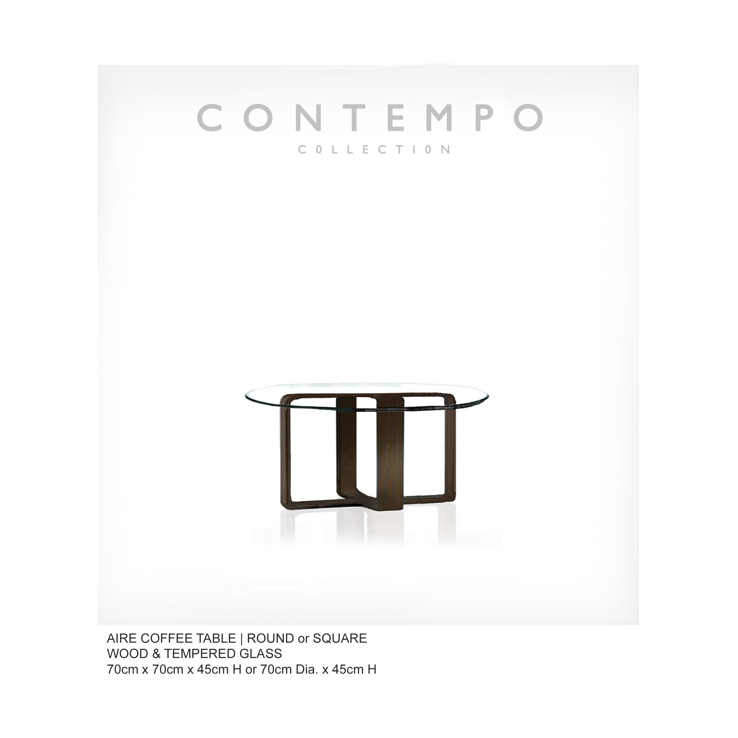 Lr Aire Coffee Table Round The Contempo Collection Was Created For The Premier Condominium Lifestyle It Has The Ve Luxury Furniture Stores Luxury Furniture Contemporary Living Room Furniture