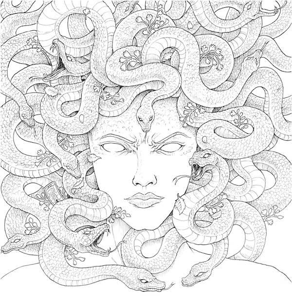 Gorgon Coloring Books Coloring Pages Medusa Art