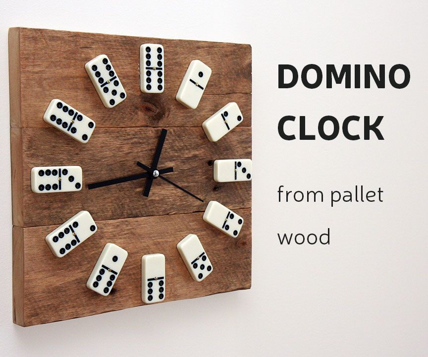 Photo of DIY: Domino Clock From Pallet Wood