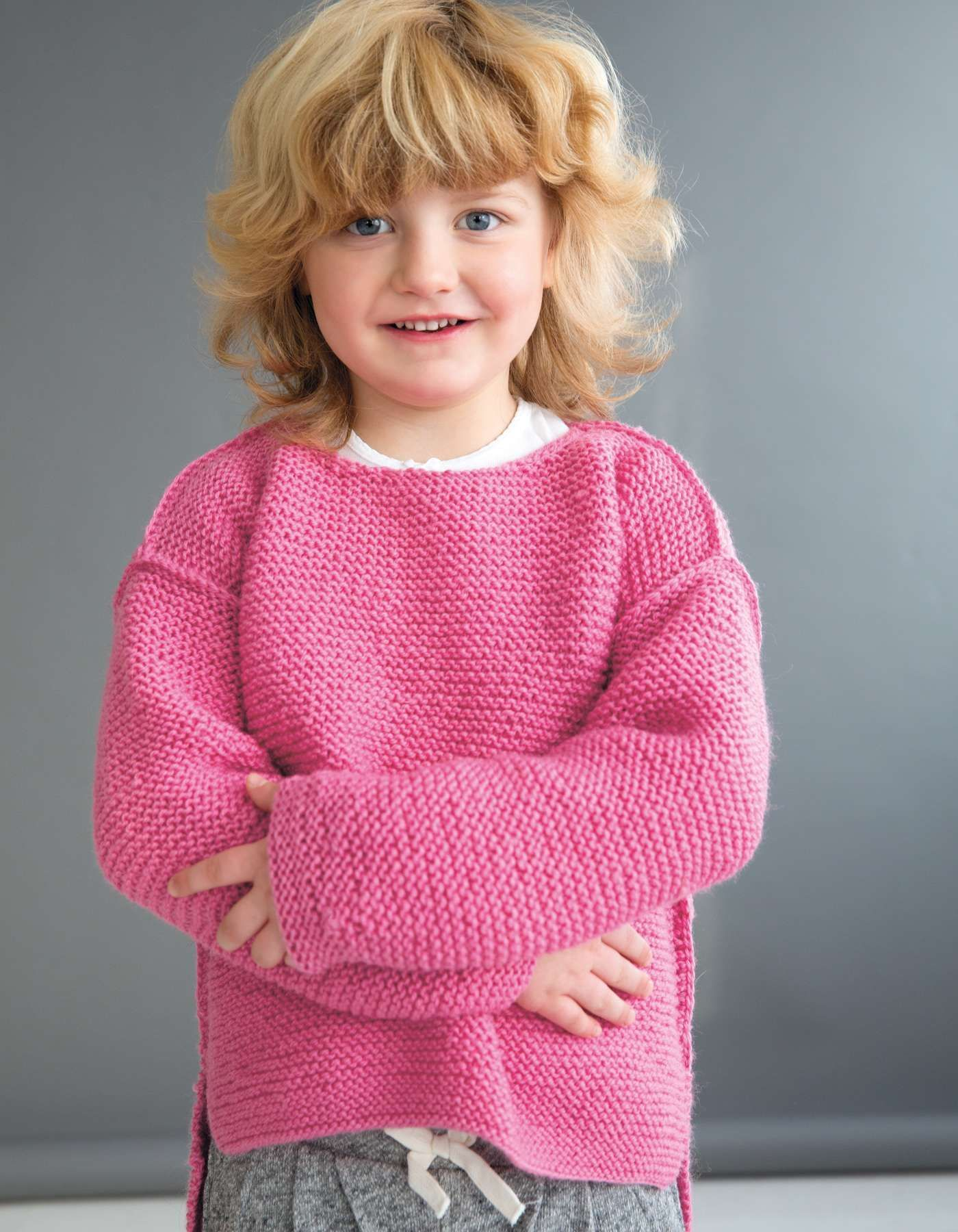 Photo of Example of children's sweater knit with long back  – Stricken – #children39s…