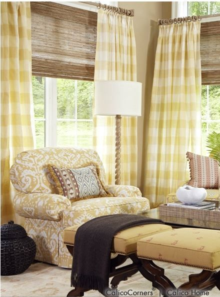 Buffalo Check Drapes French Country Living Room Home Decor Home
