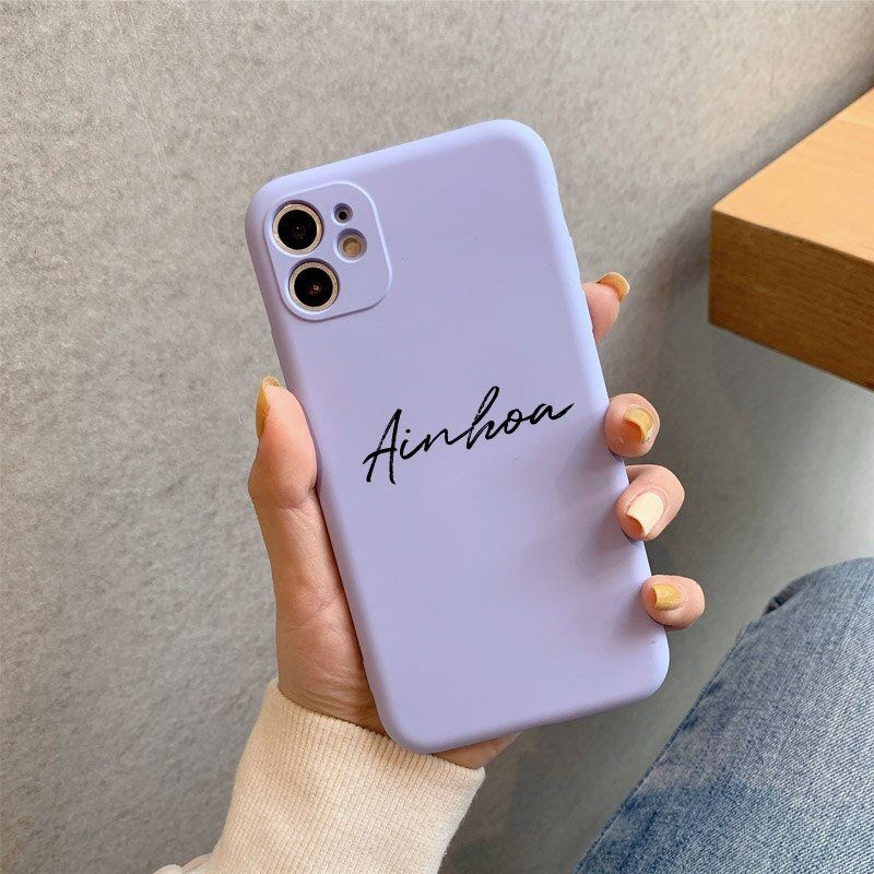 Coloured Personalized Custom Name Case for iPhone 12 Pro Max ...