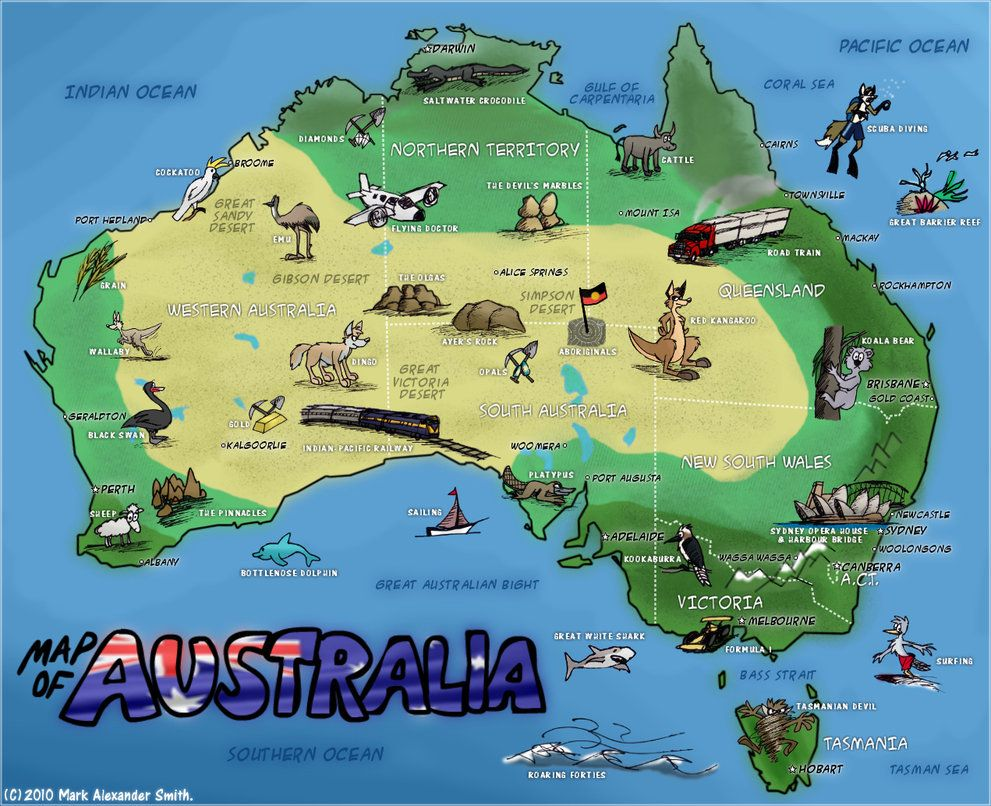 Cartoon map of australia see the world pinterest australia cartoon map of australia gumiabroncs Image collections