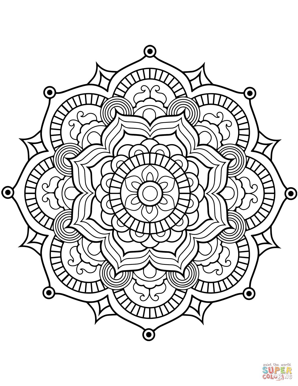 Blomster mandala tegninger | Diy | Pinterest | Coloring pages, Adult ...