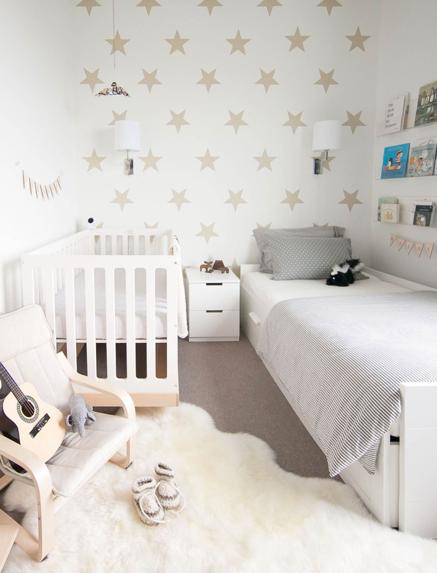 Inspiration Shared Kids Rooms Side By Side Beds Winter Daisy Interiors For Children Baby And Toddler Shared Room Tiny Kids Room Kids Rooms Shared