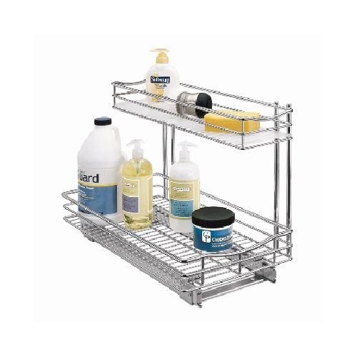 Roll Out Drawers...Top shelf allows for smaller items on top without interfering with pipes or garbage disposal