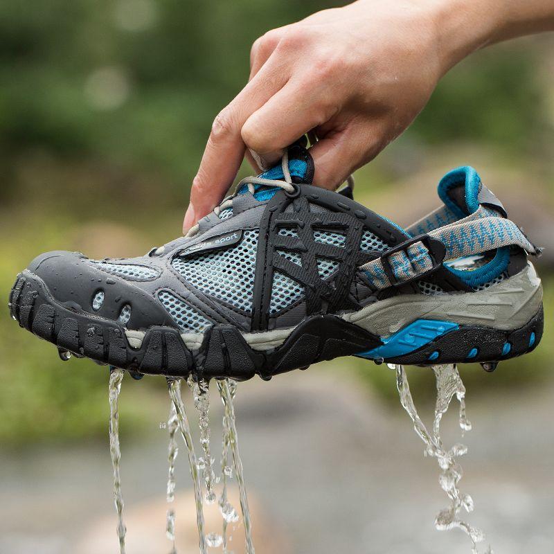 c2745e3d8be0 Hot Sale Women Men Sandals Outdoor Shoes Mesh Breathable Sport Sandals  Water Shoes Fishing Sneaker Men Hiking Sandals Aqua Shoes free shipping  worldwide
