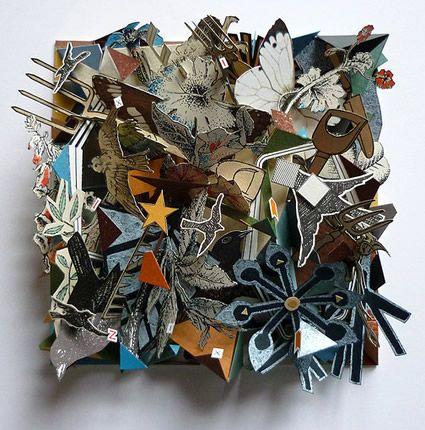 London Uk Fine Artist Sarah Bridgland Artistaday Collage Sculpture Paper Art 3d Collage