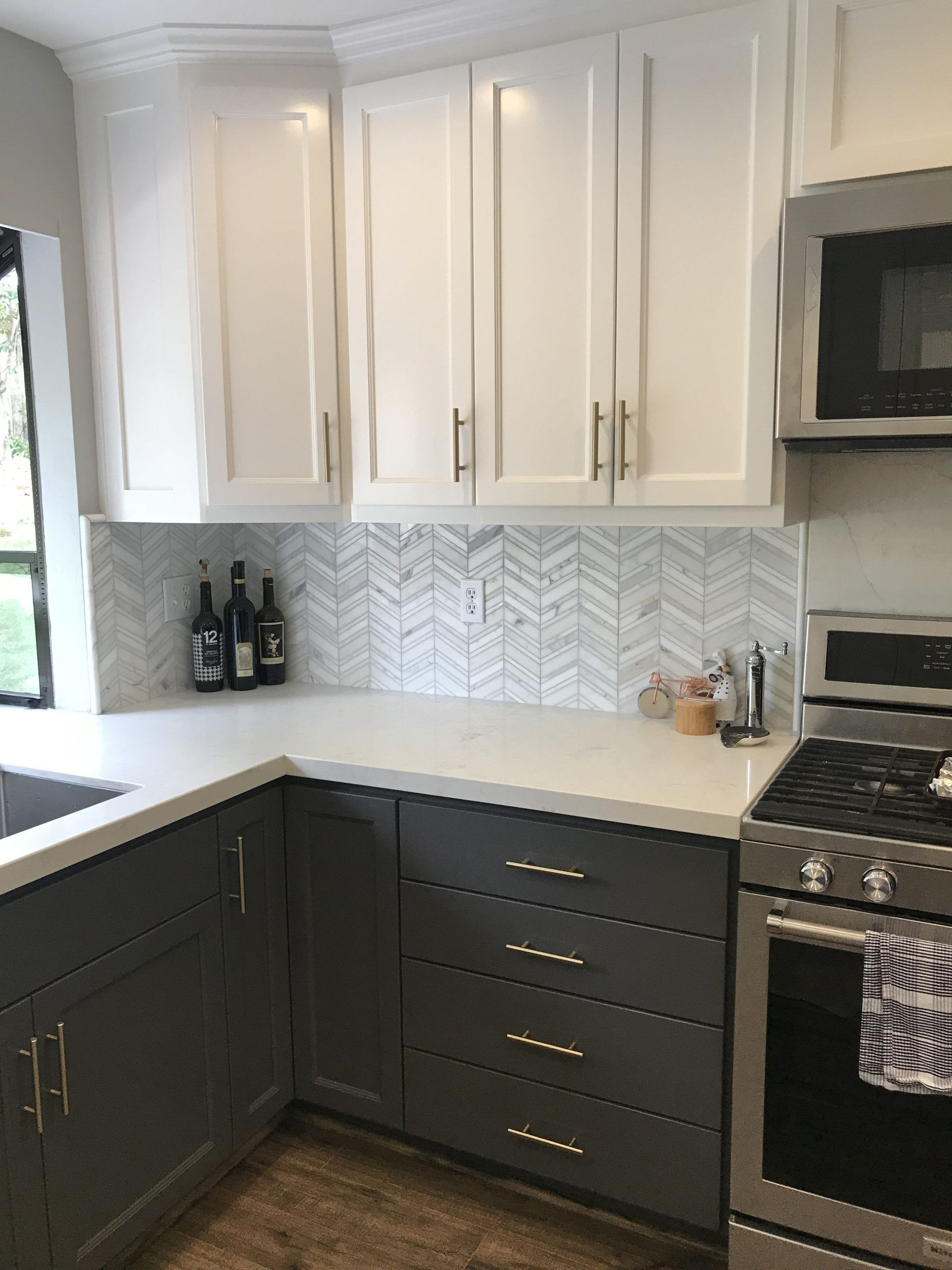 Sherwin Williams Peppercorn Kitchen Cabinets Tipperary Quartz Countertop Calac In 2020 Kitchen Remodel Small Painted Kitchen Cabinets Colors New Kitchen Cabinets