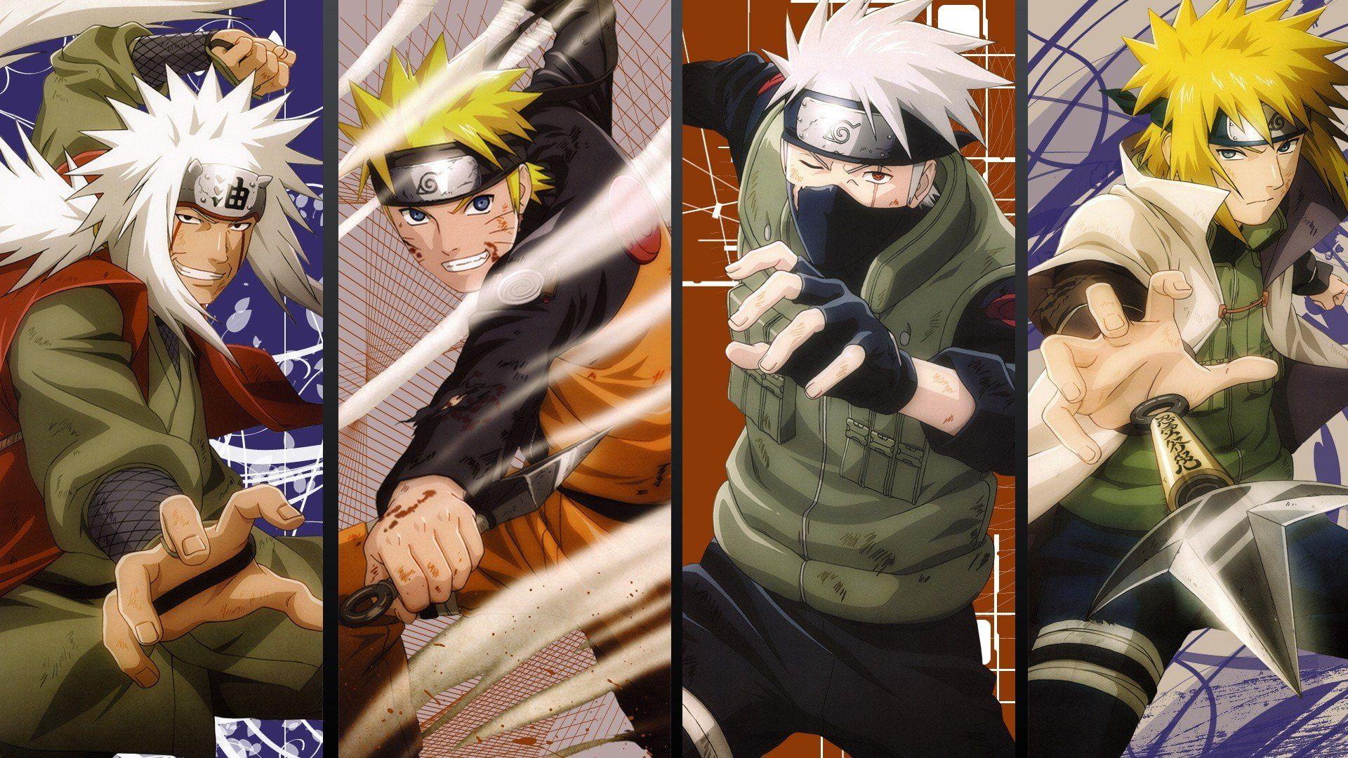 Anime Hatake Jiraiya Kakashi Kunai Minato Namikaze Naruto Shippuden Uzumaki 1080 Naruto And Sasuke Wallpaper Naruto Wallpaper Best Naruto Wallpapers