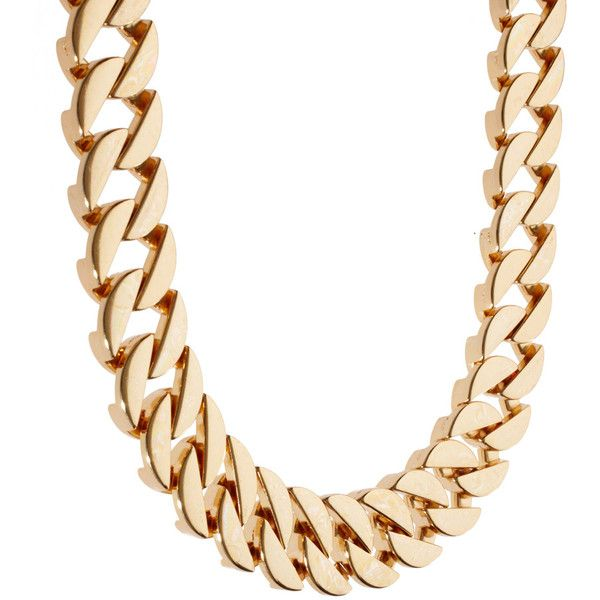 Gogo Philip Classic Chunky Chain Necklace ($33) ❤ liked on Polyvore featuring jewelry, necklaces, chunky chain necklace, gogo philip, chain necklaces, chunky chain jewelry and chains jewelry