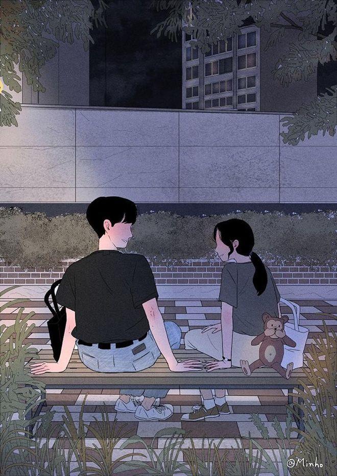 Bộ tranh Hàn Quốc khiến ai cũng muốn có một người để yêu nhau, yêu nhau  bình yên thôi - Ảnh 14. | Anime Couple | Pinterest | Illustration, ...