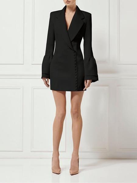 69dfd6f77ad9 LARISSA Blazer Dress in Black in 2019 | Look B | Blazer dress ...