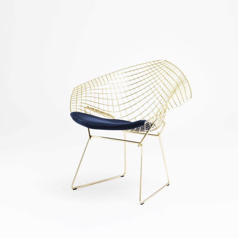 bertoia chairs version 18 carats canap fauteuil meuble design et fauteuils. Black Bedroom Furniture Sets. Home Design Ideas