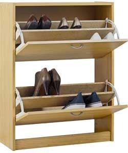 Buy Argos Home Shoe Storage Cabinet Oak Effect Shoe Storage