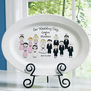 Personalized Wedding Character Plate Wedding Ideas Pinterest