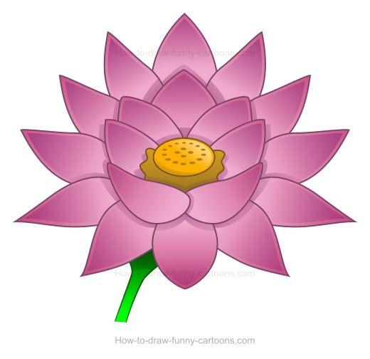 Clip Art Lotus Flower Free Google Search Lotus Flowers Cartoon