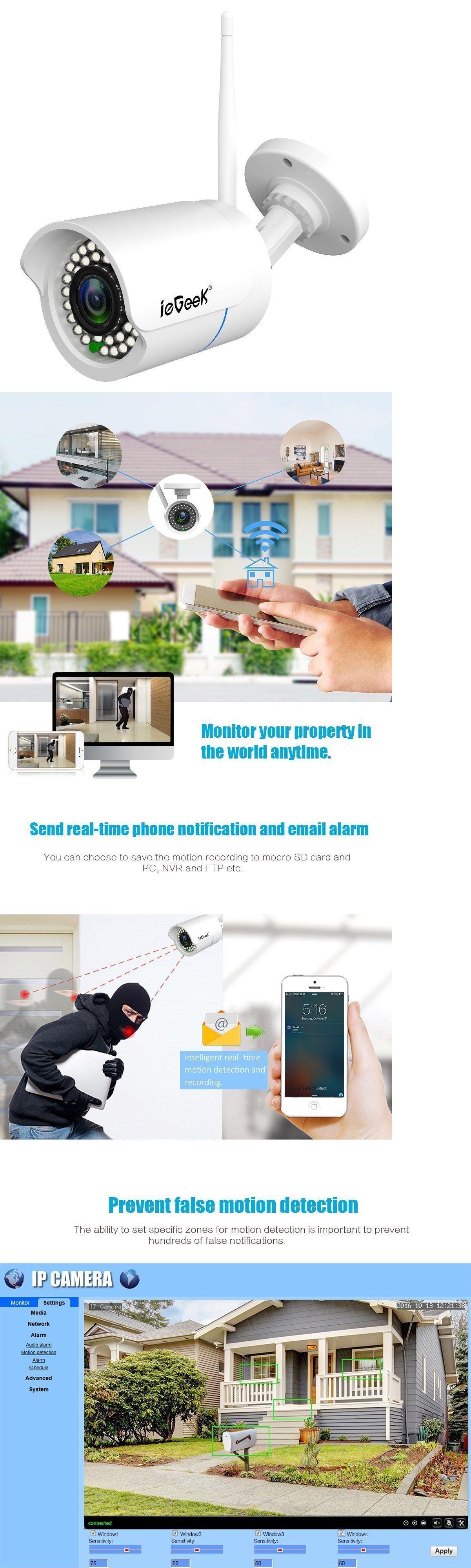 Security Cameras: Iegeek Wifi Wireless Security Camera Outdoor Ip ...