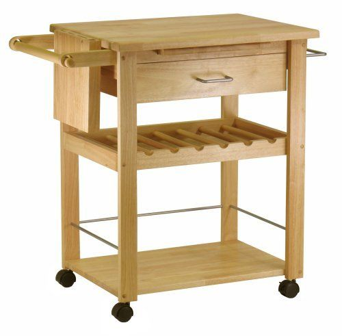 Winsome Wood Kitchen Cart, Natural by Winsome Wood. $149.98 ...