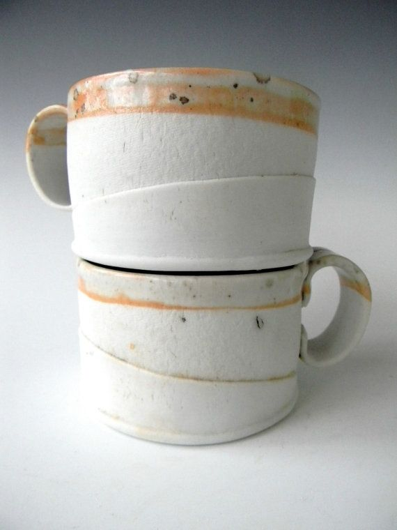 Hand Built Porcelain Cappucino Cup  Simple by lbcooperCeramics