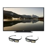 SHARP Sharp 70-inch LED LCD TV - LC70LE757U Quattron 1080p 240Hz Smart 3D HDTV with 2 Pairs of 3D Active Glasses Review Buy Now