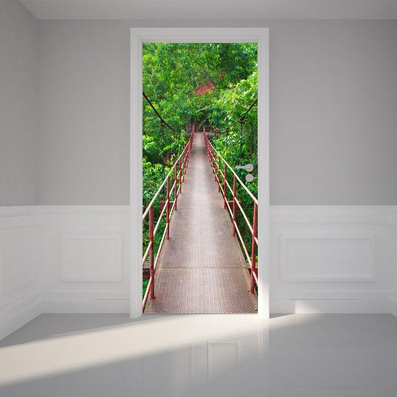 Door Wall Sticker Hanging Bridge