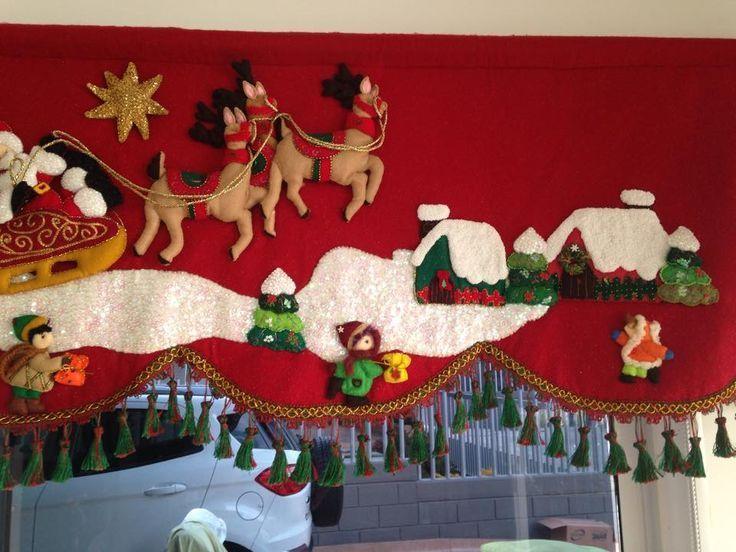 Resultado de imagen para cortinas navideñas con luces lencería